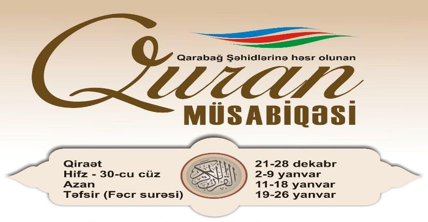 Azərbaycan üzrə 10cu Quran Müsabiqəsi başladi